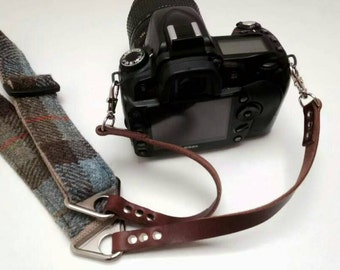 HARRIS TWEED Camera neck strap/shoulder strap for DSLR camera - Original (Wide Strap)