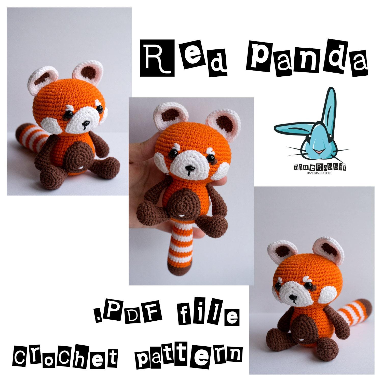 Amigurumi Panda Roux : Red panda amigurumi crochet pattern. PDF file. DIY. Language