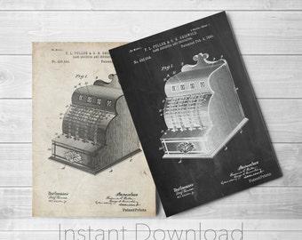 Cash Register Printables, Antique Store Counter, Ice Cream Parlor, Cash Register, PP0531