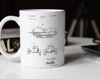 Armored Tank Patent Mug, Military Gifts, Mugillery, Army Tank, Gun Enthusiast, PP0705