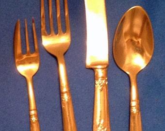 Bronze flatware etsy - Thai silverware ...