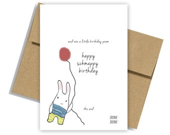 Funny Birthday Card, Funny Birthday Card for Sister, Funny Birthday Card for Brother,Kawaii