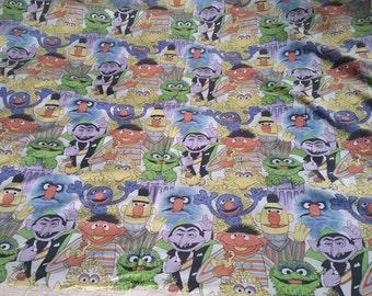 Vintage Sesame Street cotton sheet