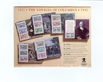 Vintage 1492-1992 Souvenir Sheets (Scott #s 2624-2629) commemorating the 500th anniversary of the voyages of Columbus. F-VF MNH OG