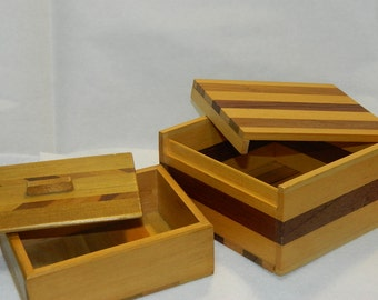 Two Vintage Wood Boxes