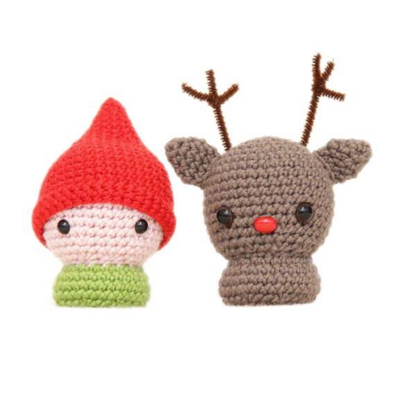 Little Elf and Rudolph the Red Nosed Reindeer Amigurumi Patterns