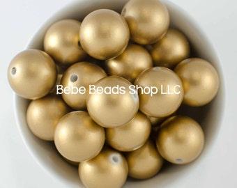 20mm Pearl - Matte Gold