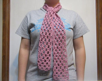 Pink Scarf, Crochet Scarf, Breast Cancer Awareness, Breast Cancer Support, Free Shipping