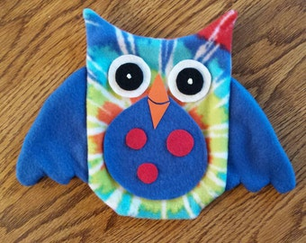 Tie Dye Owl Hand Puppet