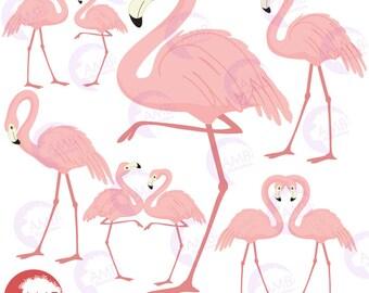 Flamingo clipart | Etsy