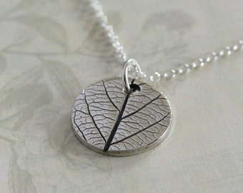 Silver leaf necklace, Handmade silver necklace, Leaf necklace, Dainty jewelry, simple silver necklace, simple jewelry, simple jewellery