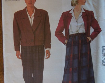 McCalls 2212, size 6, misses, womens, teens, lined jacket, skirt, pants, UNCUT sewing pattern, craft supplies