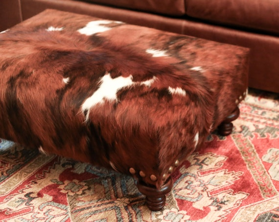 Cowhide Ottoman Cow Hide Handmade Handcrafted By Thecowpelt