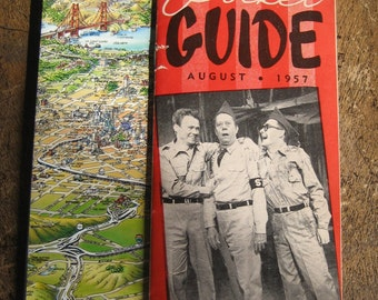 guides to San Francisco, one 3D map from 1987, one pocket guide from 1957