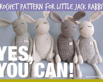 """Crochet pattern for the """"Little Jack Rabbit"""", DIY"""