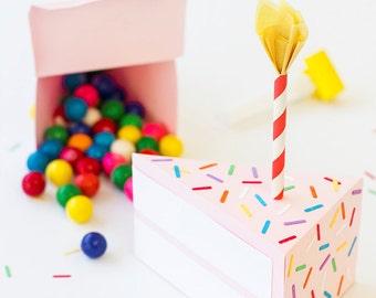 Fun Birthday Cake Box