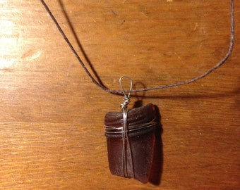 Bottle-top Sea Glass Necklace