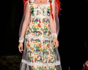 Mori Kei 70's Maxi Dress Marvel Wedding dress