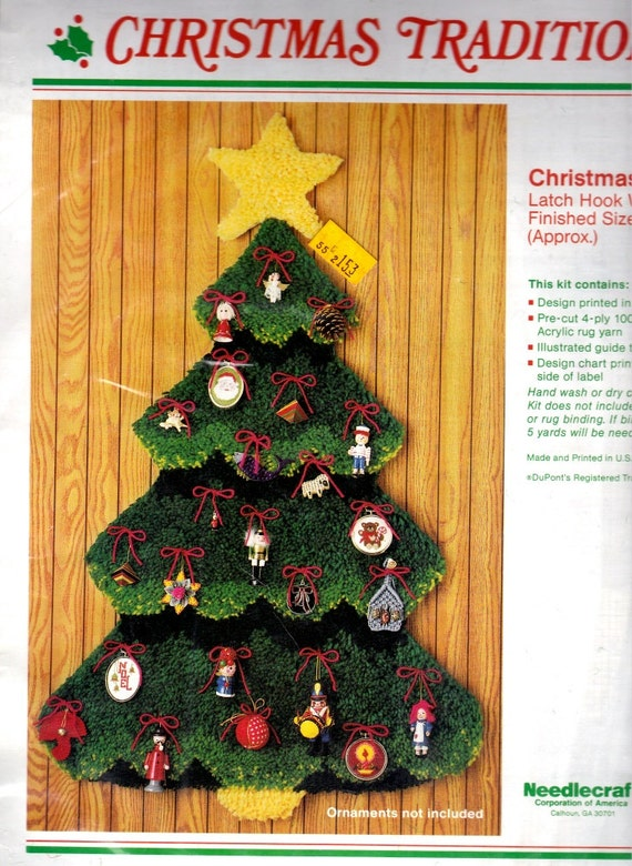 Christmas tree latch hook wall hanging kit wonderart creative