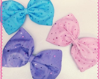Pastel sparkle hair bow