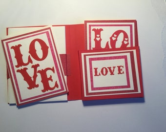 Valentine Card Gift Set