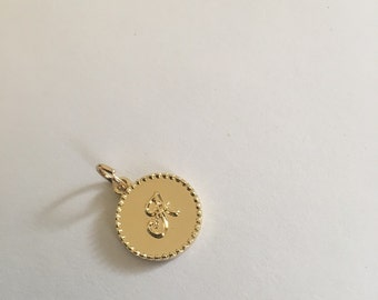 16mm A charm - Gold Plated
