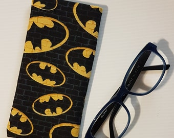 BATMAN glasses case, padded super hero fabric spectacles pouch
