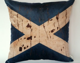 Scottish flag cushion cover, St. Andrews, Scotland's national flag, love Scotland, visit Scotland, Scotland Six Nations Rugby