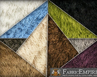 Faux Fur Long Pile Curly Fabric ALPACA Sold By The Yard