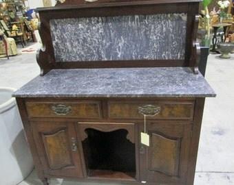 Vintage Marble Top Cabinet