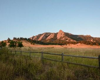 Flatiron, Chautauqua Park, Boulder Colorado, wall art, nature decor, nature art, mountain decor, mountain photography, boulder