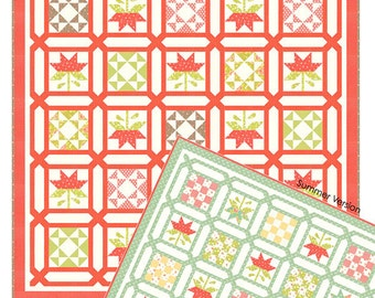 """Lattice Quilt Pattern by Fig Tree & Co., approx. 71"""" x 71"""""""