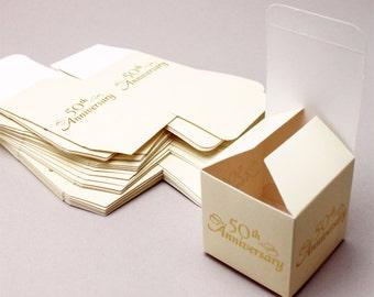25 pcs 50th Anniversary Favor Boxes