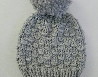 Knit Hat - Gray