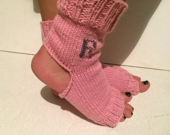 Personalized socks with initials. flip flop yoga sock!  Yoga Socks  Socks Dance Socks  Women  Socks  Colorful Hipster Socks Yoga active wear