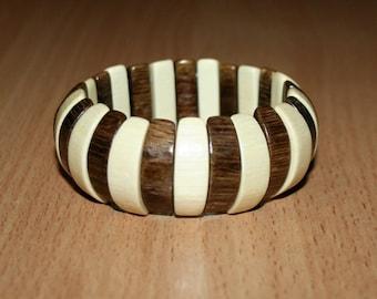 Wood beads stretch bracele Natural bracelet