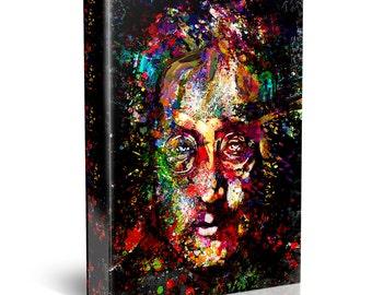 John Lennon Painting, Beatles Canvas, Lennon Original Painting Art Print
