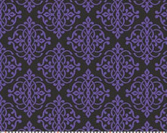Half Yard He Still Loves Me - Mini Medallion in Purple - Cotton Quilt Fabric - by Jackie Robinson for Benartex Fabrics 3277-66 (W2917)