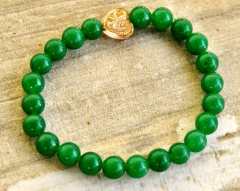 Beaded Braclet  African Gift Girlfriend Gift Sankofa Bracelet Aventurine Bracelet African Bracelet For Her Afrocentric Bracelet