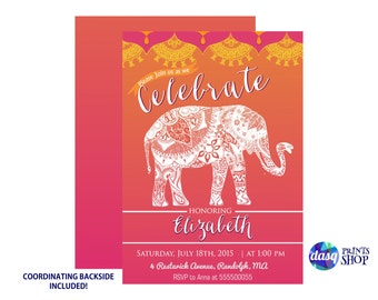 Moroccan Party - Indian Inspiration - India theme - Henna Elephant