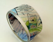 Medium Comic Book Chunky Resin Bangle Bracelet Featuring Adventure Time