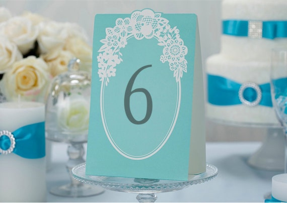 Blue Green Wedding Place Cards For Wedding Decoration Party Supplies