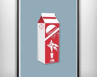 Leon the professional minimalist movie poster