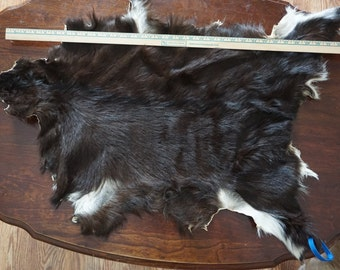 Black and white goat hide