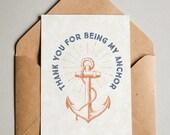 Printable Father's Day Card - Anchor