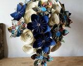 Marvel comic DC superhero wedding theme Paper Flower Bouquet origami stationary UK vintage teardrop waterfall alternative silk foam buttons