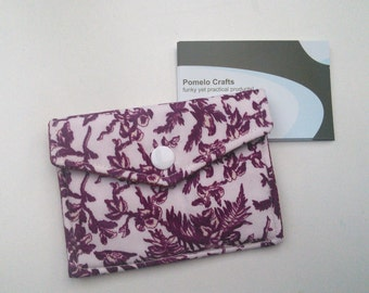 Business card case, credit card holder, loyalty card holder, fabric business card holder