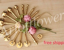 16 Fabric Flower Making Tools Millinery High Quality Brass Set incl Soldering Iron+Soft and hard pads+Free tutorials in English are included