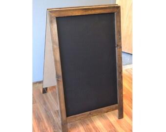 Rustic A-Frame Sandwich Chalkboard 40x24, Rustic Chalkboard, Framed Chalkboard, Chalkboard Sign, Chalkboard Easel, Outdoor Chalkboard