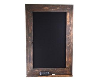 Rustic Chalkboard Frame 36x24 with Chalk Tray ,Blackboard, Rustic Home Decor, Chalkboard Frame, Gift for Her, Kitchen Chalkboard, Menu Sign